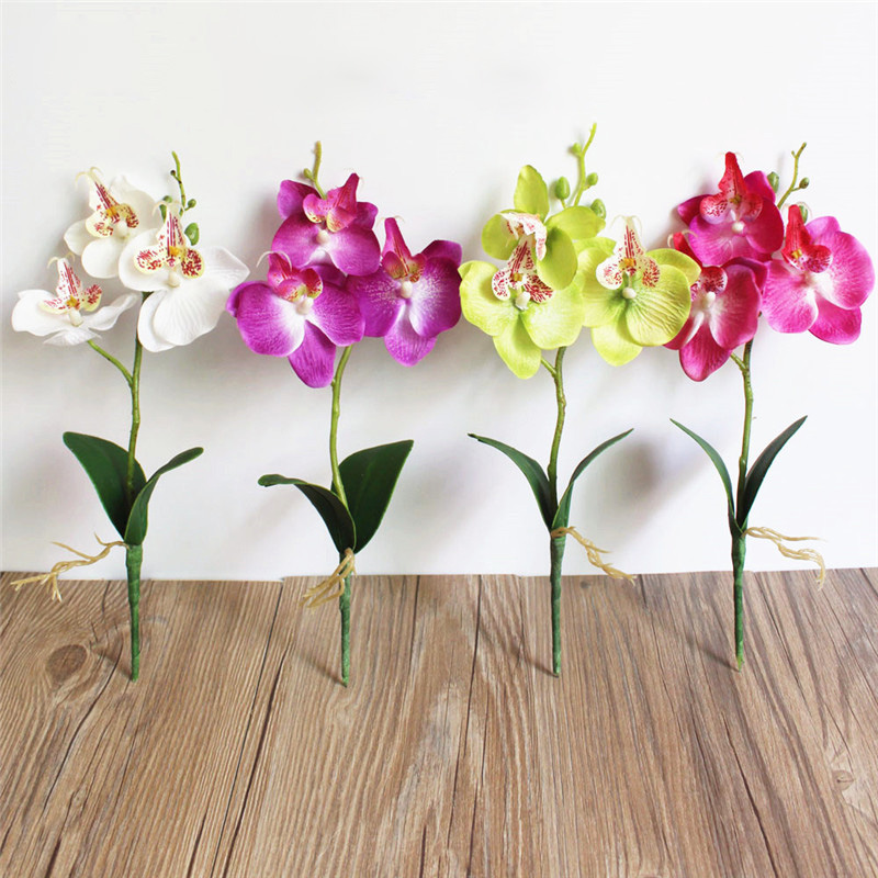 Artificial flower 2pcs phalaenopsis orchid silk real touch flower artificial flower 2pcs phalaenopsis orchid silk real touch flower white artificial flower wedding flower orchid floral in artificial dried flowers from mightylinksfo