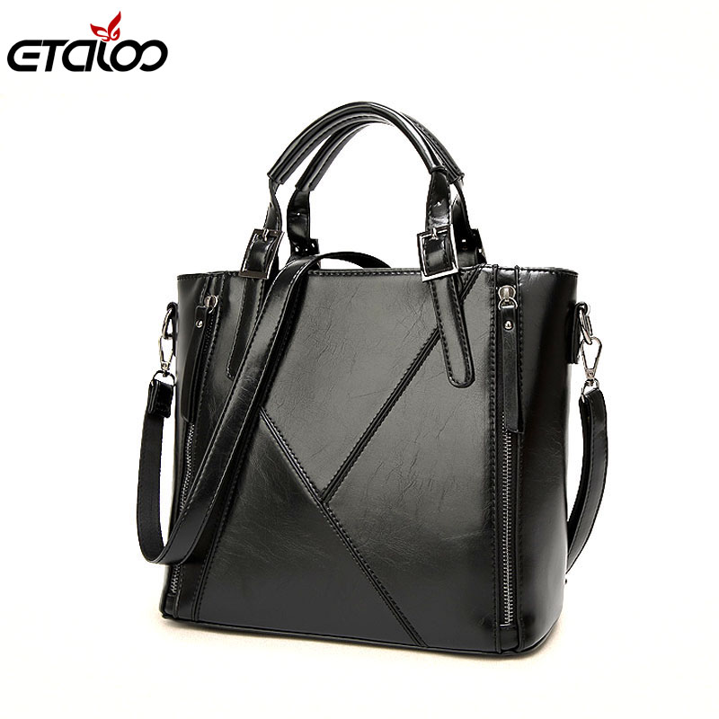 Women leather handbags women bag the new spring and summer bags manufacturers wax leather fashion bags