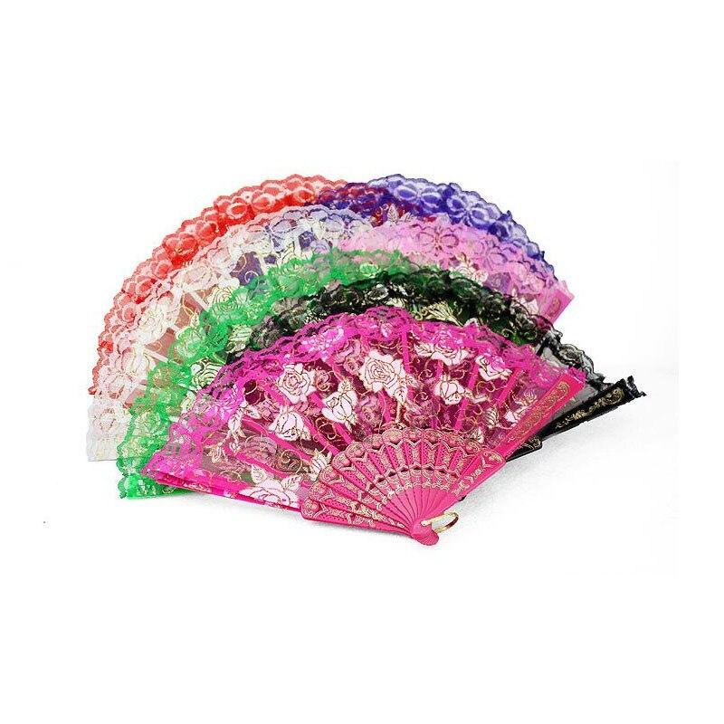 100 sztuk Multi Color składany motyl projekt Organza koronki ręcznie wentylatora dla nowożeńców Wedding Favor dostawy prezent Party pamiątka prezent ZA1194 w Prezenty imprezowe od Dom i ogród na  Grupa 1