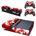 Russa jogos do clube de futebol spartak moscou adesivo de pele para xbox one console + 2 pcs controlador capa decalques pele para xbox one