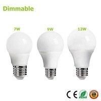 E27 Dimmable Bulb 220v 7W 10W 12W Energy Saving Bright Light LED Lampada Dimmable Bulb