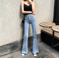 Flare Jeans Woman Denim Trousers Vintage Women Clothes 2019 Spring summer High Waist Stretchy Skinny Jeans Pants