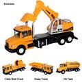 Feliz crianças cereja crianças luz musical pull back cars toys presentes de construção caminhão de brinquedo para o bebê das meninas dos meninos