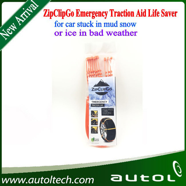 ZipClipGo Life Saver Emergency Traction Aid Tire Snow Chains Fast Delivery