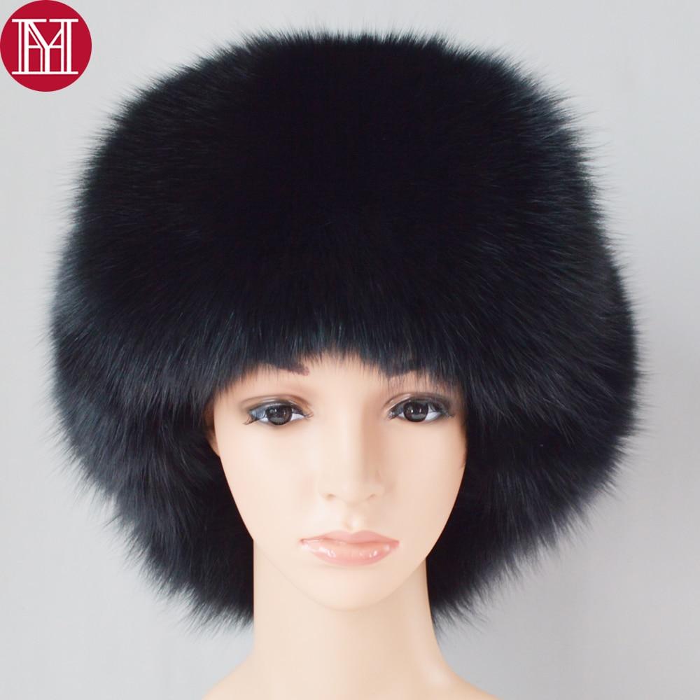 Hat Cap Fox-Fur Bombers Russian Winter Real Women Luxury Unisex Real-Sheepskin Hot-Sale
