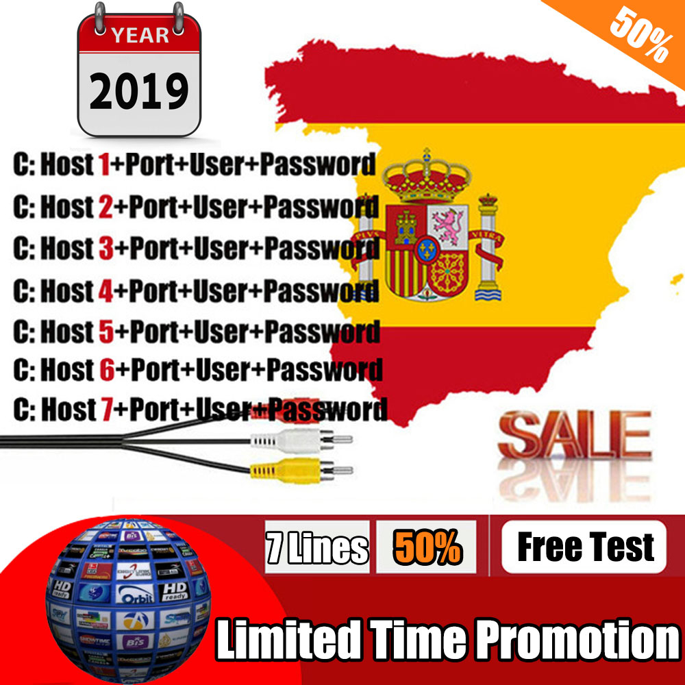 7 lines Cccam Cline For 1 Year European Portugal Italy Spain CCccam HD  Server For Freesat GTmedia V7S HD V8 Nova DVB S2 Receiver