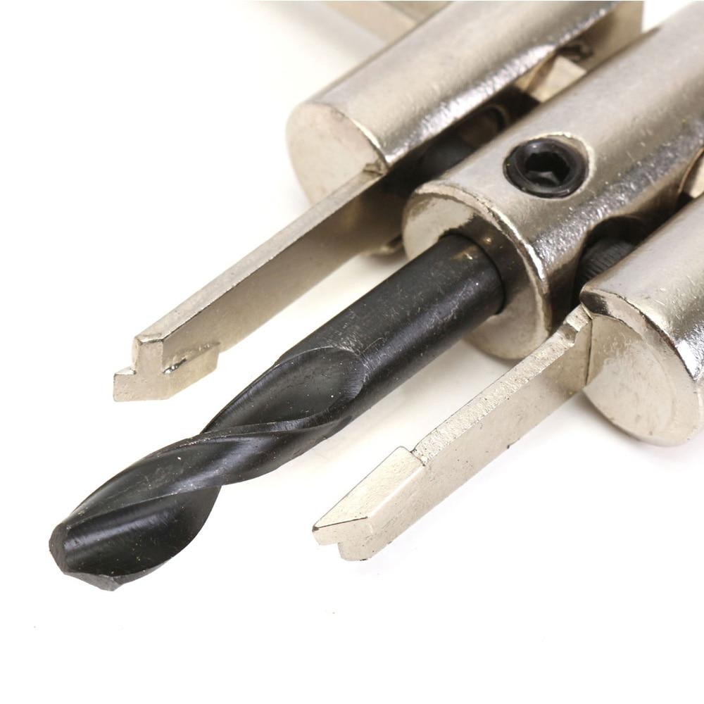 Reguliuojamo lydinio žiedinių skylių pjaustytuvų rinkinys su - Grąžtas - Nuotrauka 4