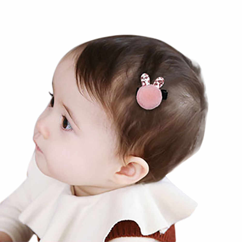 2019 Baby Girl Hair Accessories unicorn party Kids Infant Baby Girl Hair Clip Cartoon Rabbit Hairclip Hairpin Bows Turban
