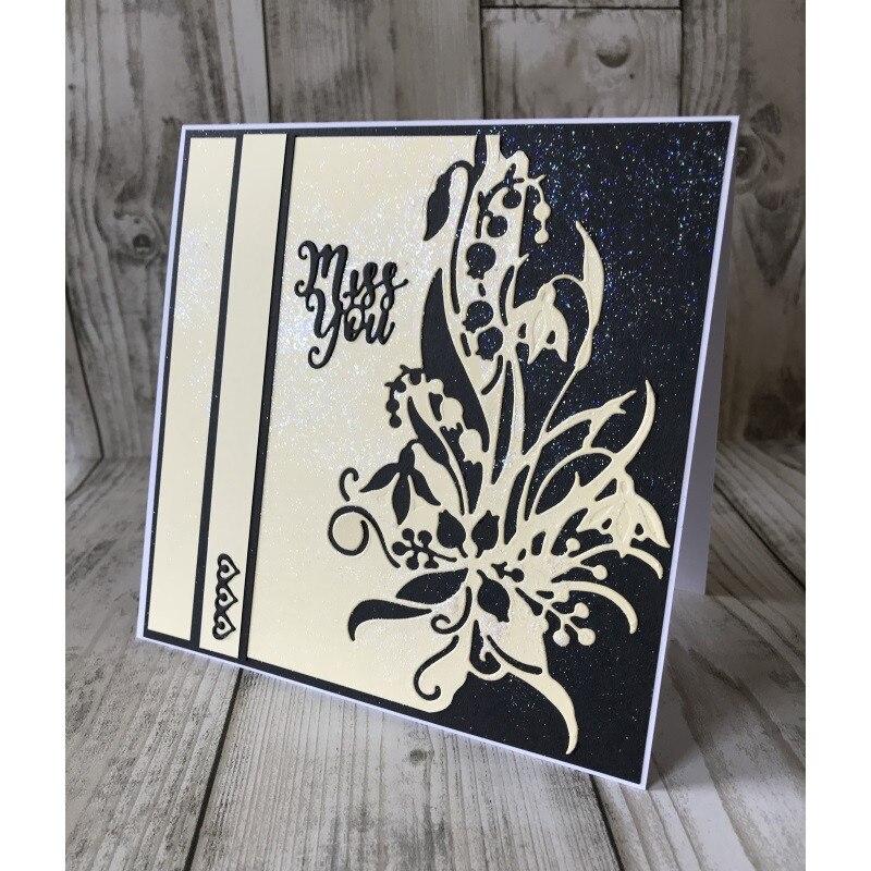 Bi fujian Snowdrop Edger dies Scrapbooking Metal Cutting Dies New 2018 Stencil Embossing Craft Dies Cut DIY Paper Cards Making