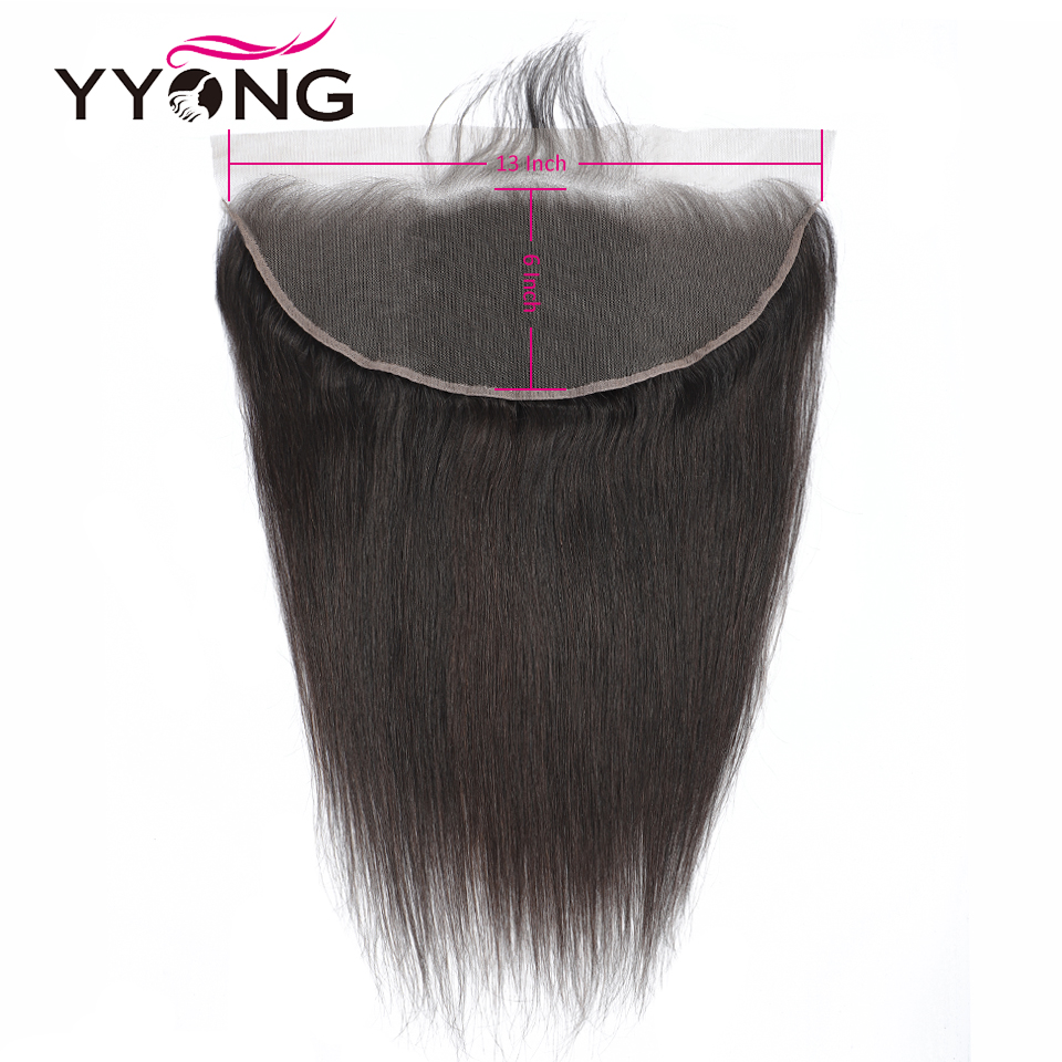 Image 5 - YYong 13x6 Lace Frontal With Bundles Peruvian Straight Bundles With Frontal Remy Human Hair Ear To Ear Lace Frontal With Bundles-in 3/4 Bundles with Closure from Hair Extensions & Wigs