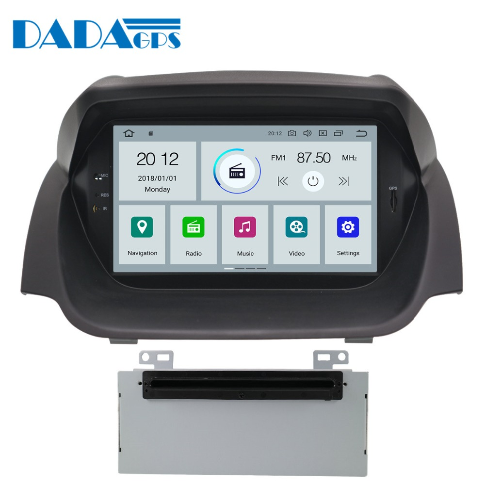 Newest Android 9.0 4+32GB Car Radio <font><b>GPS</b></font> Navigation Head Unit For <font><b>Ford</b></font> <font><b>Fiesta</b></font> 2013 - 2016 Radio Car DVD Player Stereo Multimedia image