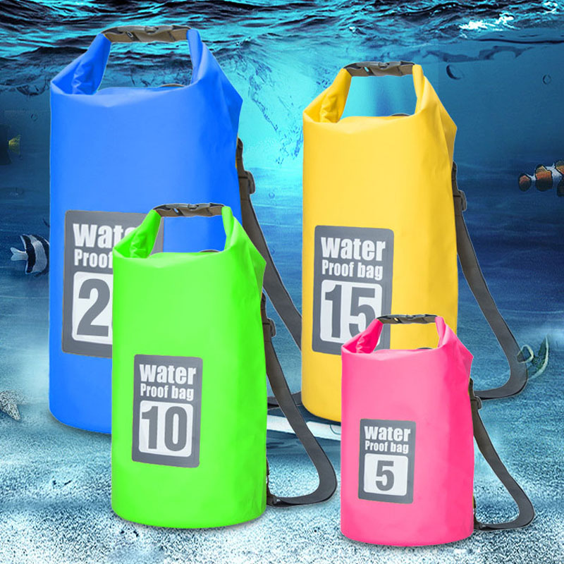 10L 15L Waterproof Swimming Backpack Bag Surfing Storage Bag Adjustable Portable Rafting Diving Dry Bag For Beach Sandbeach Use in Swimming Bags from Sports Entertainment