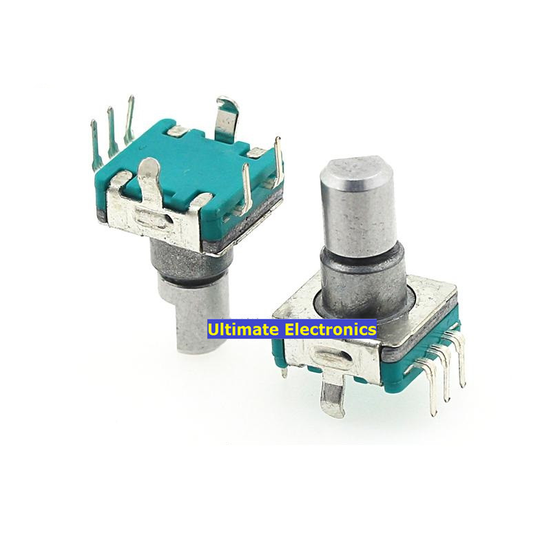 2pcs Car DVD Navigation Potentiometer/Car DVD Volume Switch/360 degrees Encoder/Volume Switch EC11 Semicircular handle ...