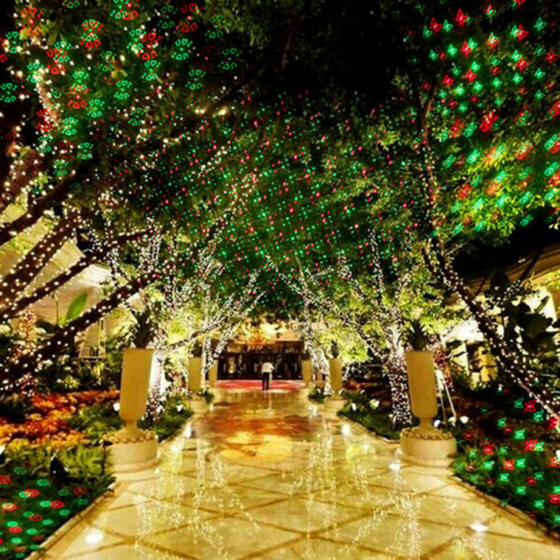 novelty outdoor landscape garden led laser light projector holiday christmas 12 gobo eu plug clh in stage lighting effect from lights lighting on - Christmas Outdoor Light Projector