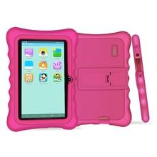 Yuntab 7 pulgadas Quad Core Tablet PC carga Iwawa kid software 3D-Game bluetooth Niños Tablet con Control de Matriz de Alta Calidad (rose red)