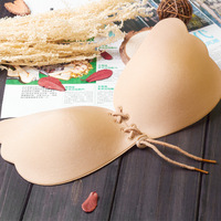 Sexy Women Bra Invisible Strapless Bra Push Up Silicone Bust Front Bandage Backless Self Adhesive Gel
