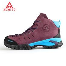 Top Quality Women's Leather Outdoor Hiking Trekking Boots Shoes For Women Winter Wearable Climbing Mountain Shoes Boots Woman цена