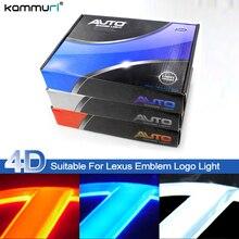 Kammuri стайлинга автомобилей 4D сзади знак логотип свет для Lexus GS300 ES300 ES240 DS350 LS270 RX450h CT200h EX250 сзади эмблемы свет