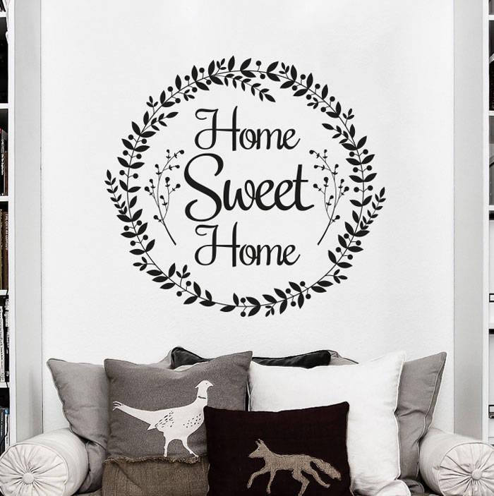Aliexpress.com : Buy Housewarming Decals Farmhouse Home Sweet Home Wall  Decals Country Wall Sticker Rustic Art Vinilos Home Wall Decoration NY 423  From ... Part 80