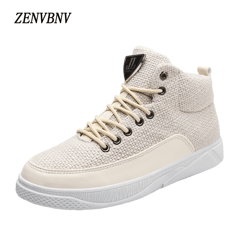 ZENVBNV High Top Winter Sneakers Walking Shoes Lace Up Pu Leather Fashion Men Casual Shoes Breathable Man Shoes Zapatos Hombre