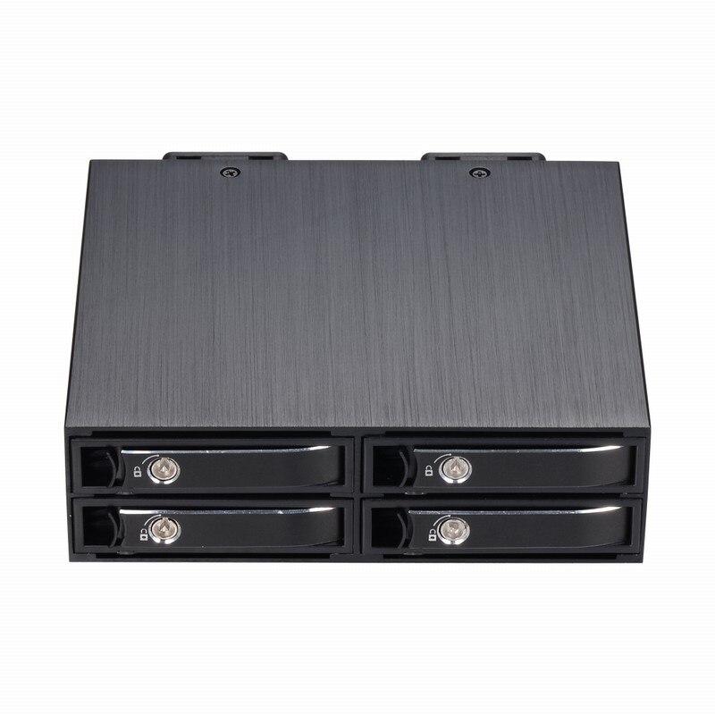 Uneatop 4x2,5 дюймов съемный лоток MiniSAS внутренний корпус SSD, HDD для 5.25in Optibay привод стойки
