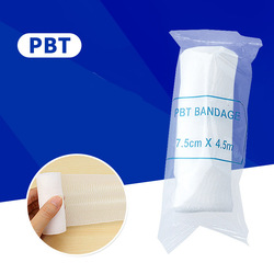 1 Roll 5cm*4.5m 7.5cm*4.5m Elastic PBT Bandages Wound Dressing Outdoor Sports Sprain Treatment For First Aid Kits Accessories