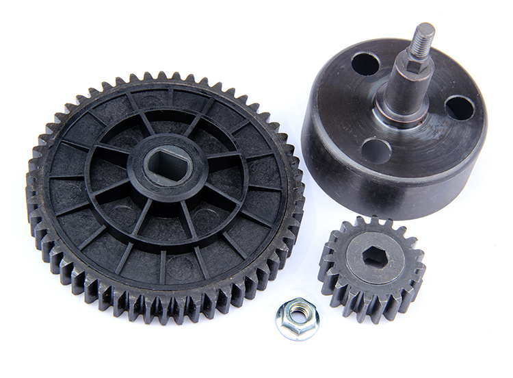 R/C racing car parts,NEW- Clutch Bell and 55T/19T High Speed Metal Gear Set for 1/5th RC Gas Model Car/for baja durable rc car defender frame set for
