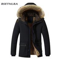 Fur Collar Hooded Parka Jacket Men 2018 Hot Sale Warm Wool Liner Mens Jackets And Coats Brand Clothing Windbreak Jackets Men 5XL