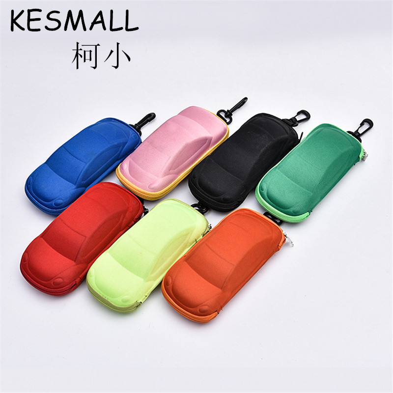 Cheap Price Fashion Sunglasses Case Kids Eyeglasses Box Cartoon Car Shaped Boy Girls Sun Glasses Cases Eyewear Accessories YJ494