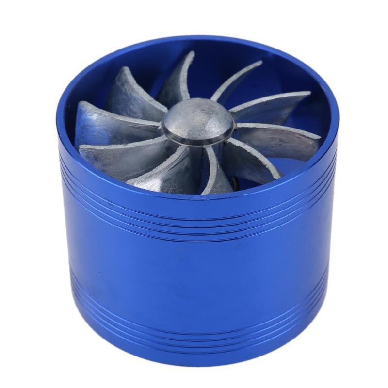 Reacondicionamiento coche turbina Turbo cargador de admisión de aire Gas Fuel Saver ventilador Supercharger Modificación de coche Universal de alta calidad