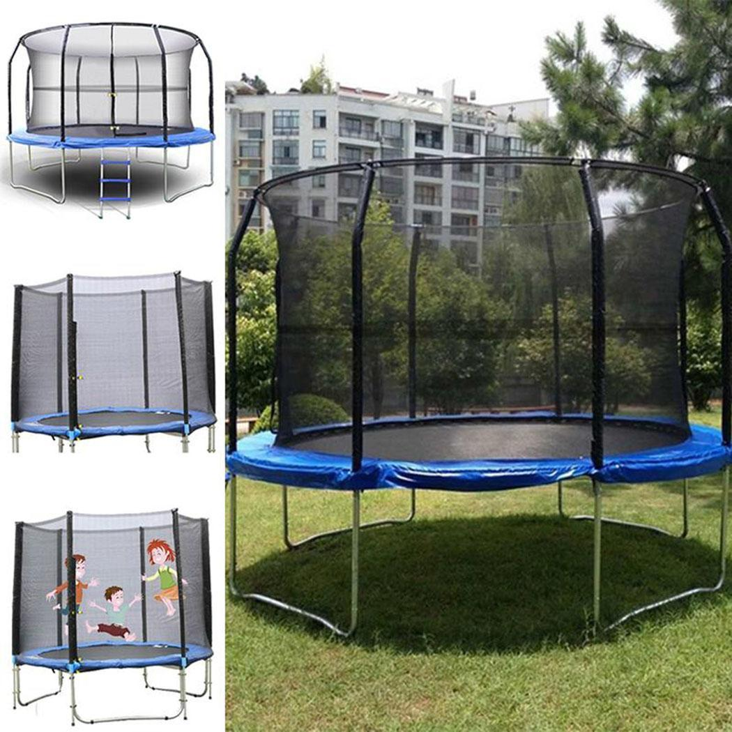 Safety Net Outdoor Replacement Trampoline Bounce Safety Net for Round Fitness Equipment General Round Frame Trampoline Black