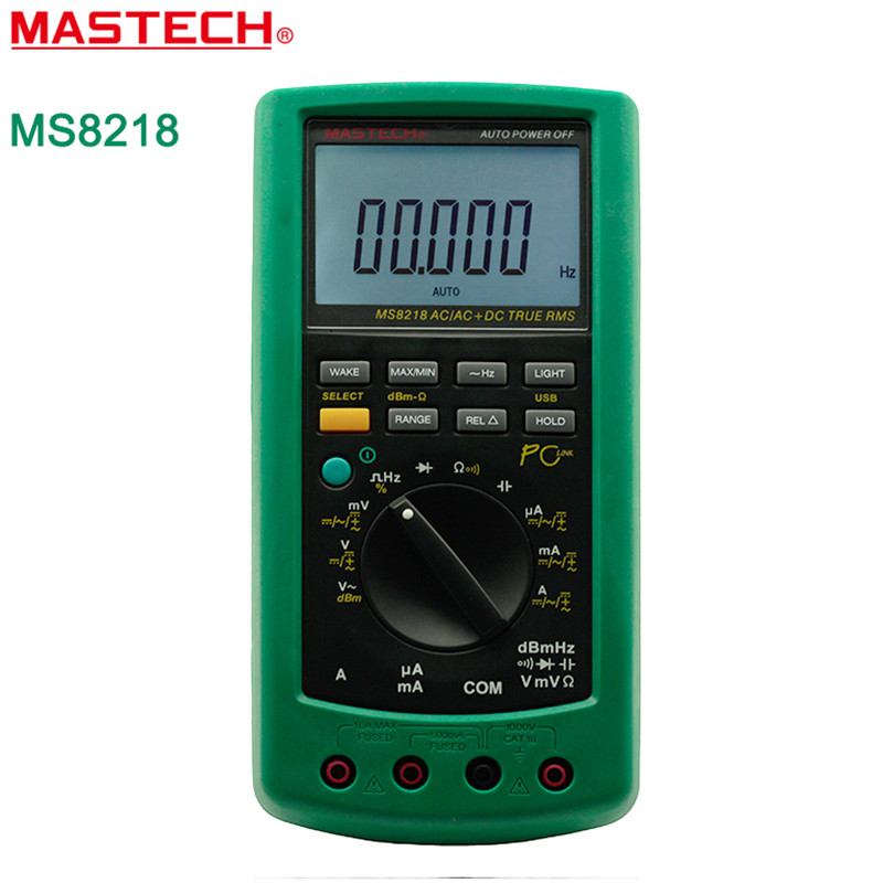 MASTECH MS8218 Digital Multimeter 50000 Counts True RMS DMM dB Meter w RS232 Interface High Accuracy Precision Multimetro