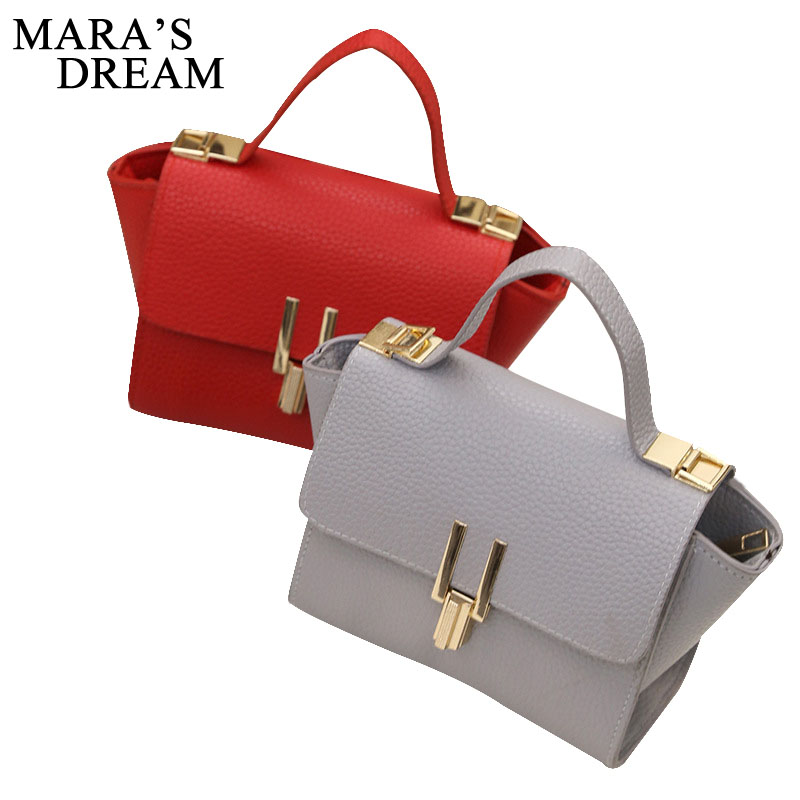 Mara's Dream Fashion Trapeze Tote Women PU Leather Handbags Ladies Party Shoulder Bags Female Mini Messenger Bags Bolsa Feminina 2017 new women leather handbags fashion shell bags letter hand bag ladies tote messenger shoulder bags bolsa h30