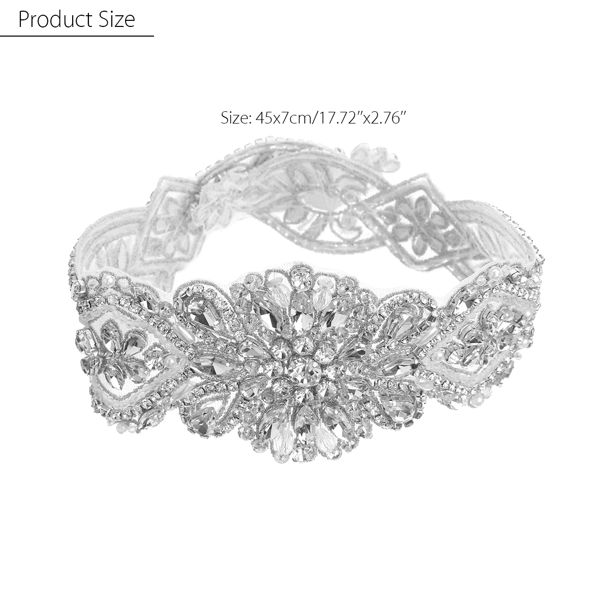 New Bridal Sash Belts Applique for DIY Wedding Dress Belt Accessories Women  Rhinestone Handmade Waistband Crystal Bride Girdle-in Women s Belts from  Apparel ... c12a3a56286f