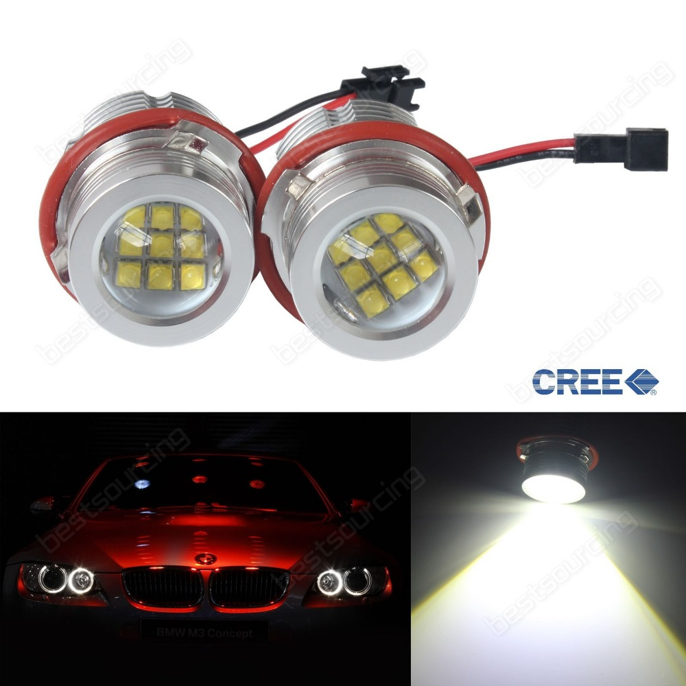 90W LED Angel Eyes Halo Light Marker Bulb E39 E60 E87 M5 X5 E53 E63 E65 01-03 5-series E39 face-lifted / LCI (CA291)