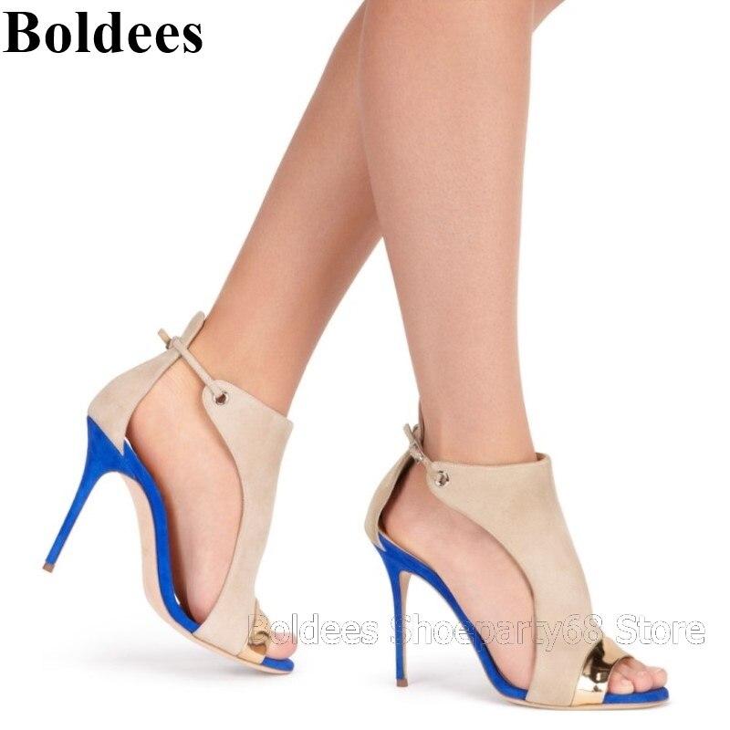 Pie Zapatos Señoras Tacón Correas Verano Mixto as Showed Abierto Moda As Mujeres Color Las Belleza Del Alta Color Dedo Sandalias De xqgWwApPdA