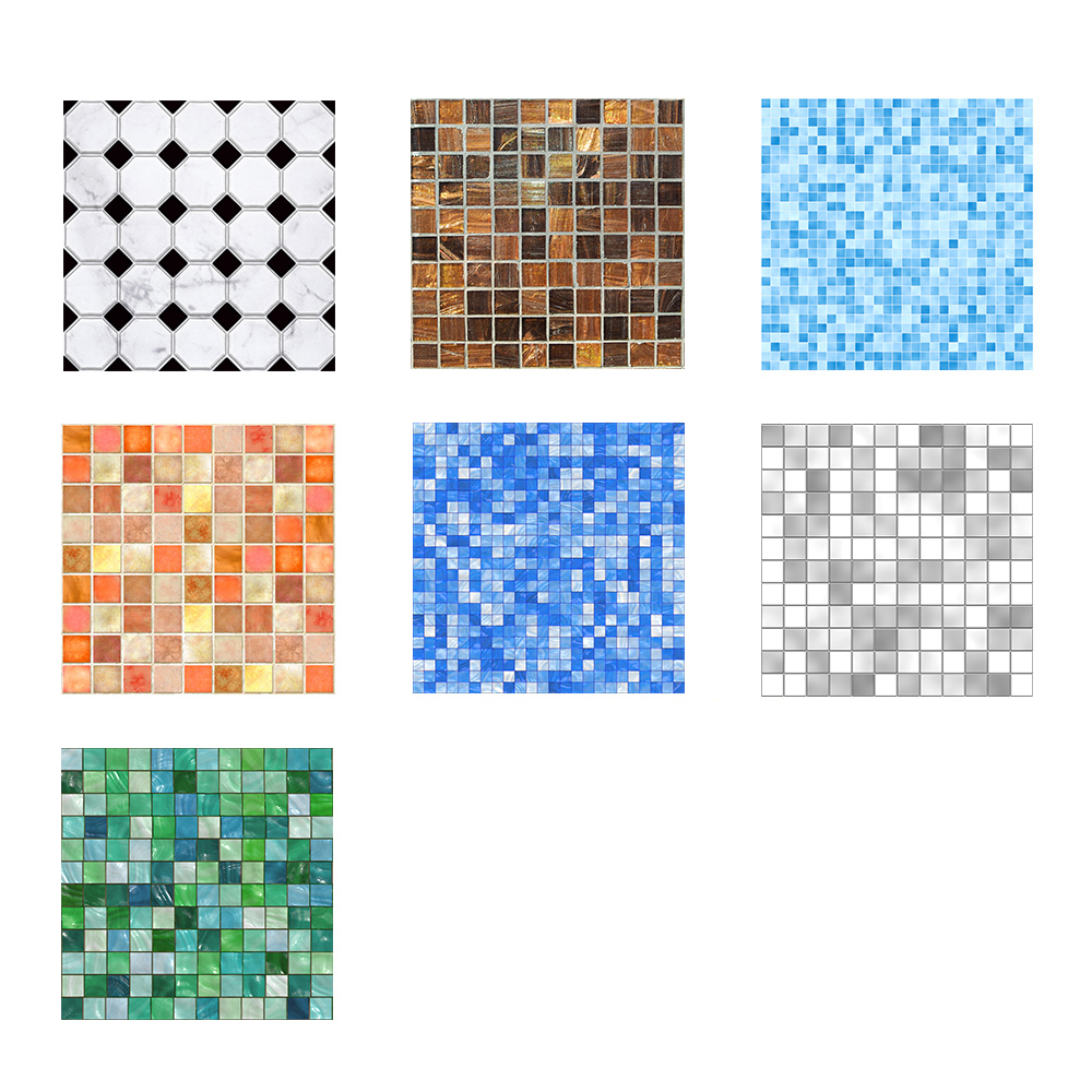 20*20cm Imitation Marble Furniture PVC Waterproof Self Adhesive Wallpaper Kitchen Bathroom Mosaic Tile Sticker Wall Art