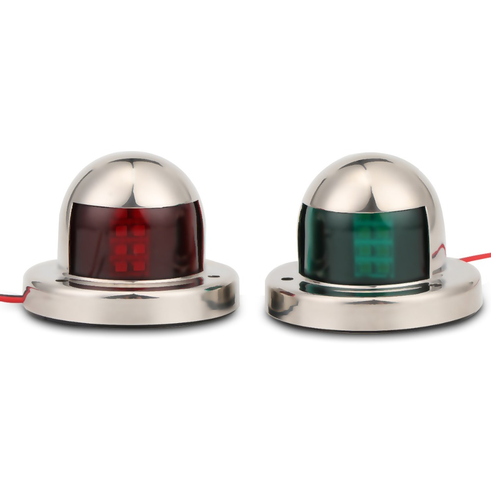 Image 4 - 1 Pair 12V LED Sailing Signal Lamp Red Green Starboard Light Port Light for Marine Boat Yacht-in Marine Hardware from Automobiles & Motorcycles
