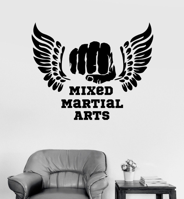 Modern Sports Room Vinyl Wall Decal Mixed Martial Arts MMA Quotes Fight Fighter Stickers Living Room  sc 1 st  AliExpress.com & Modern Sports Room Vinyl Wall Decal Mixed Martial Arts MMA Quotes ...
