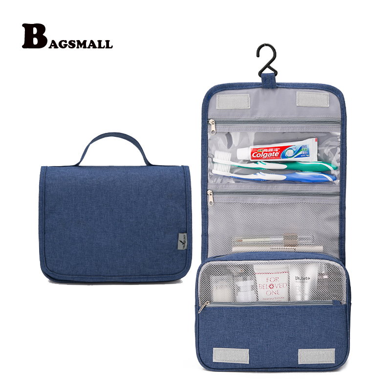 bagsmall waterproof hanging travel toiletry bag carryon cosmetic case folding makeup organizer with breathable mesh pvc