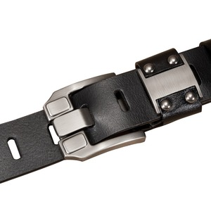 Image 2 - BISON DENIM Mens Jeans Belts Pin Buckle Cowhide Genuine Leather Belts Vintage Brand Waistband Strap Belt For Men Male N71350