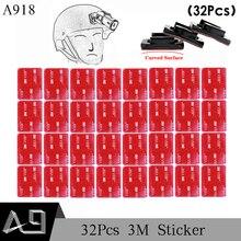 A9 32 шт. красный VHB клей Стикеры плоским двухсторонняя клей Клейкие ленты для GoPro Hero 5 4 3 + 2 SJ4000 крепление на шлем A918