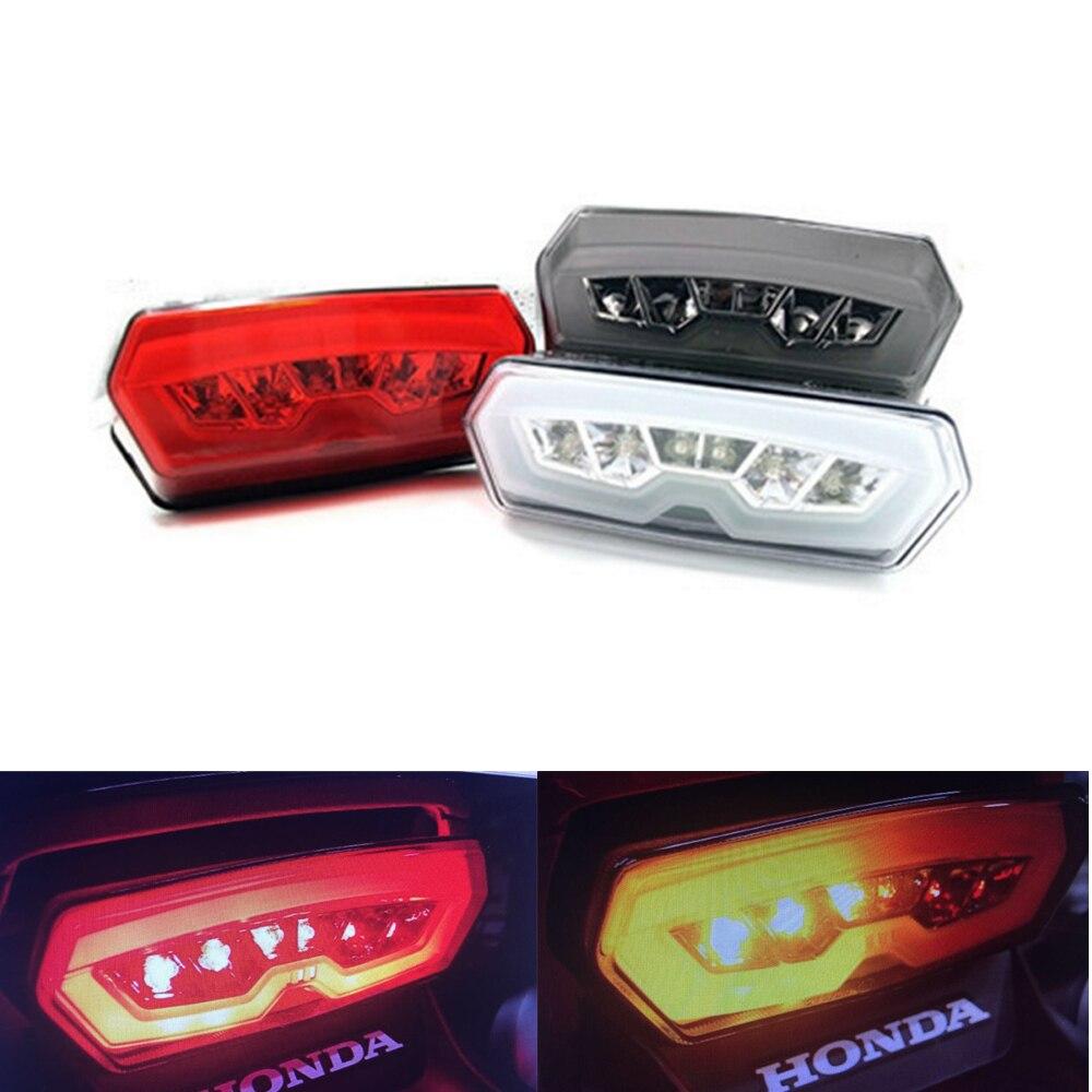 Motorcycle Knight Turn Signal Tail Light Brake Stop Running Indicator Integrated LED for Honda GROM MSX125 CBR650F CTX700 new Honda Grom