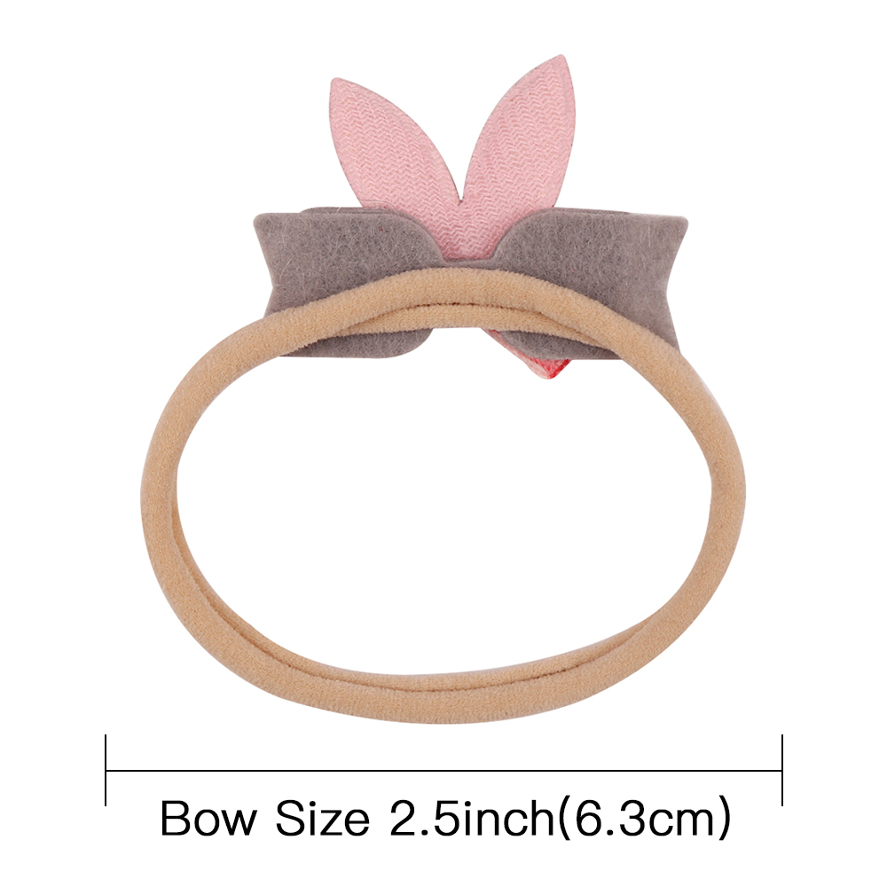 Cute Rabbit Ears Baby Girls Headband Elastic Nylon Newborn Children 39 s Hairband Fashion Glitter Bowknot Hair Accessories in Hair Accessories from Mother amp Kids