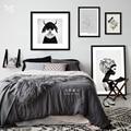 Nórdico moderno Fada Das Flores Cópias Da Arte Dos Desenhos Animados Poster Retratos Da Parede Da Lona Pintura Sem Moldura Decoração do Quarto Dos Miúdos