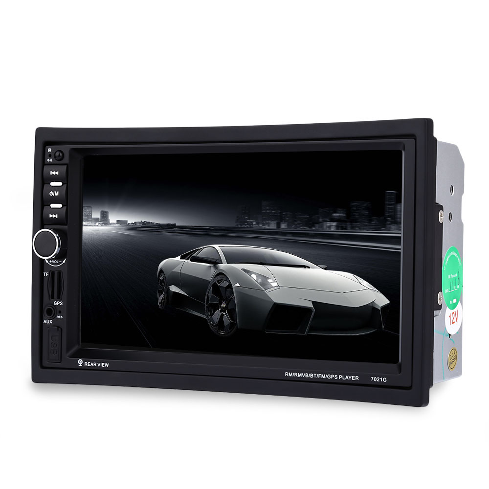7021G Remote Control Car MP5 Player with Rear View Camera 2din 7 inch Touch Screen Bluetooth Multimedia FM Stereo Radio GPS Map 7 inch 2din car radio mp5 player mp4 touch screen bluetooth rear camera dvr input stereo steering wheel control fm usb tf aux
