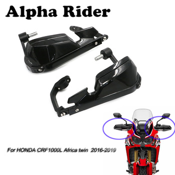 Motorcycle Wind Shield Handle Hand Guard Handguards Black For Honda Africa Twin CRF 1000L CRF1000L 2016 2017 2018 2019