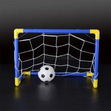 Складные мини-футбольные ворота, сетчатый набор с насосом, детские спортивные домашние игры на открытом воздухе, игрушки для детей, подарок на день рождения, пластик