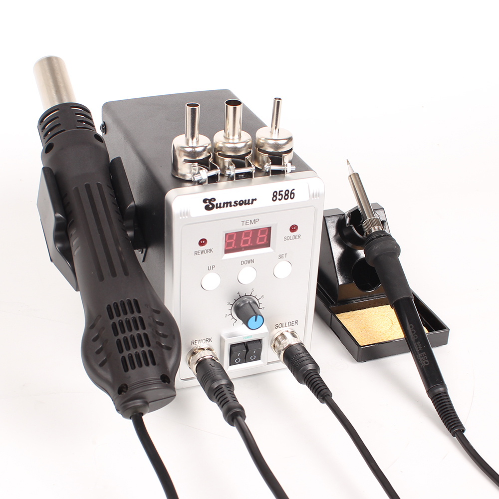Temperature Controlled Soldering Station 6 Tips 7 x Solder Wick LCD Display
