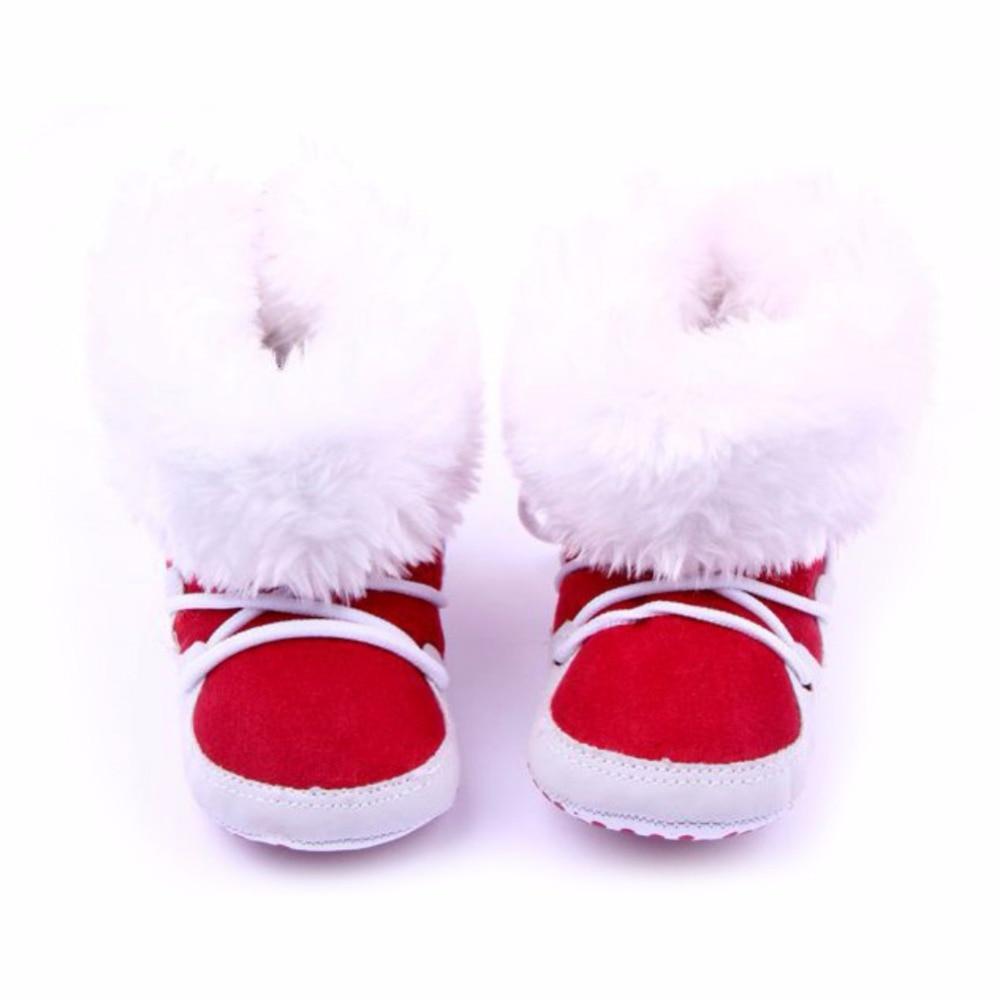 Fashion Winterborn Baby Flock Warm Pre-walker Shoes Infant Boy Girl Toddler Soft Soled First Walker